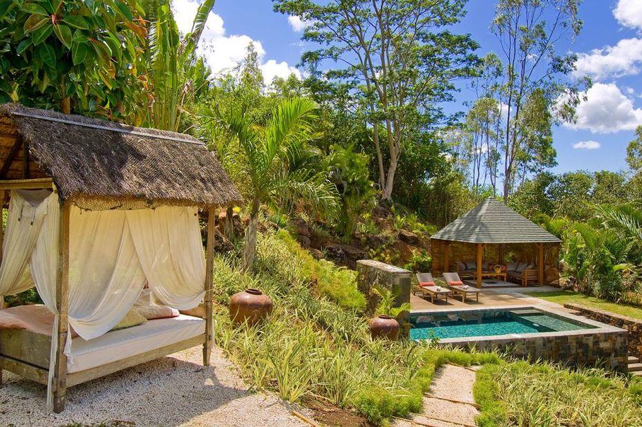 Lakaz Chamarel - garden pool suite - Mauritius - foto: Lakaz Chamarel