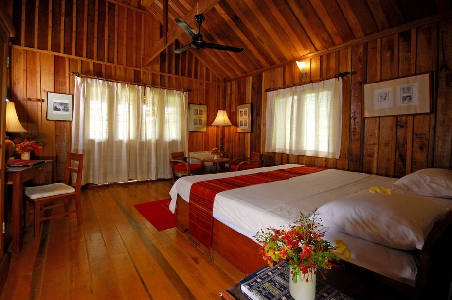 Laos - Champasak - La Folie Lodge - kamer - foto: La Folie Lodge