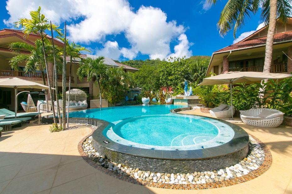 Le Duc De Praslin - zwembad - Seychellen - foto: Le Duc de Praslin
