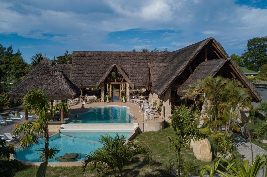 Les Lauriers Eco Hotel - exterior - Praslin - Seychellen - foto: Le Lauriers