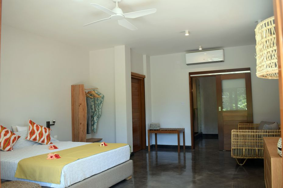 Les Lauriers Eco Hotel - familiekamer - Praslin - Seychellen - foto: Le Lauriers