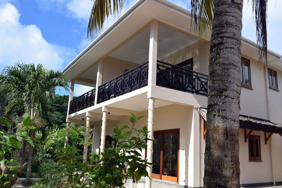 Les Lauriers Eco Hotel - family room - Praslin - Seychellen - foto: Le Lauriers