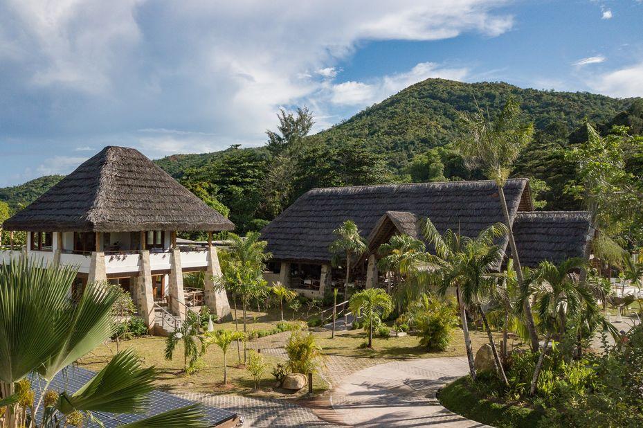 Les Lauriers Eco Hotel - main building - Praslin - Seychellen - foto: Le Lauriers