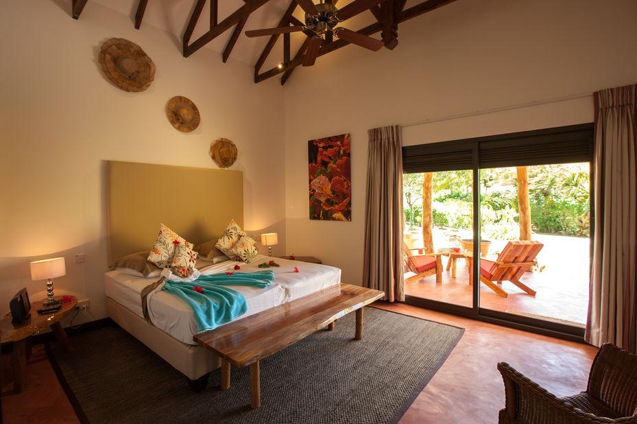 Les Lauriers Eco Hotel - villa interieur - Praslin - Seychellen - foto: Le Lauriers