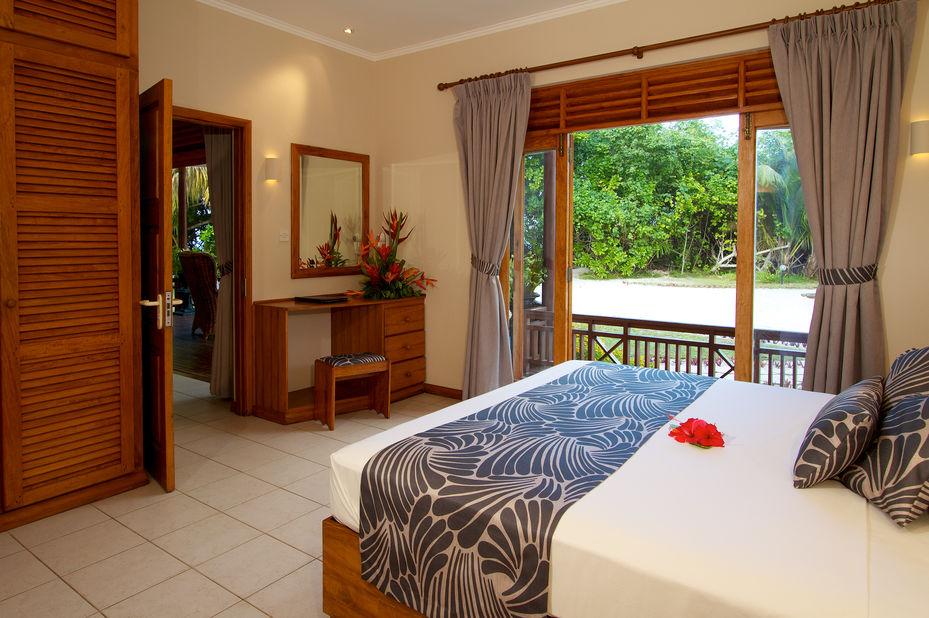 Les Villas dOr - chalet slaapkamer - Praslin - Seychellen  - foto: Les Villas dOr