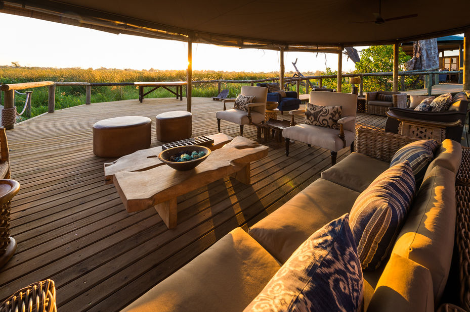 Little Vumbura - lounge - Okavango Delta - Botswana - foto: Little Vumbura