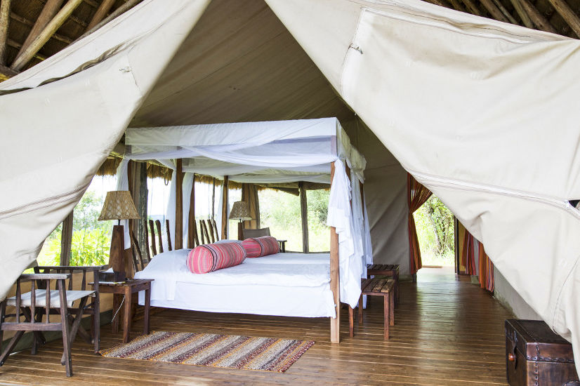 Mihingo Lodge - luxury tent - Lake Mburo - Oeganda - foto: Mihingo Lodge