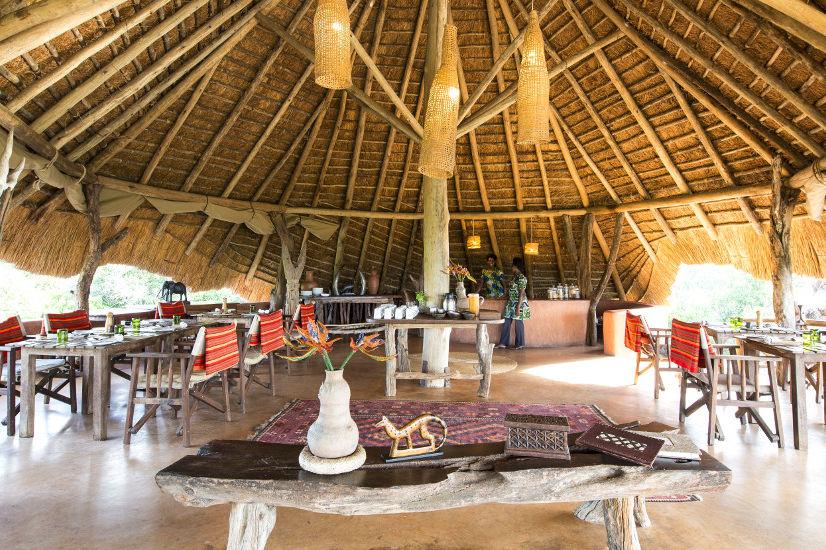 Mihingo Lodge - restaurant - Lake Mburo - Oeganda - foto: Mihingo Lodge