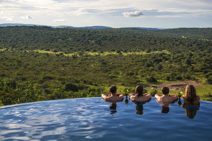 Mihingo Lodge - zwembad - Lake Mburo - Oeganda - foto: Mihingo Lodge