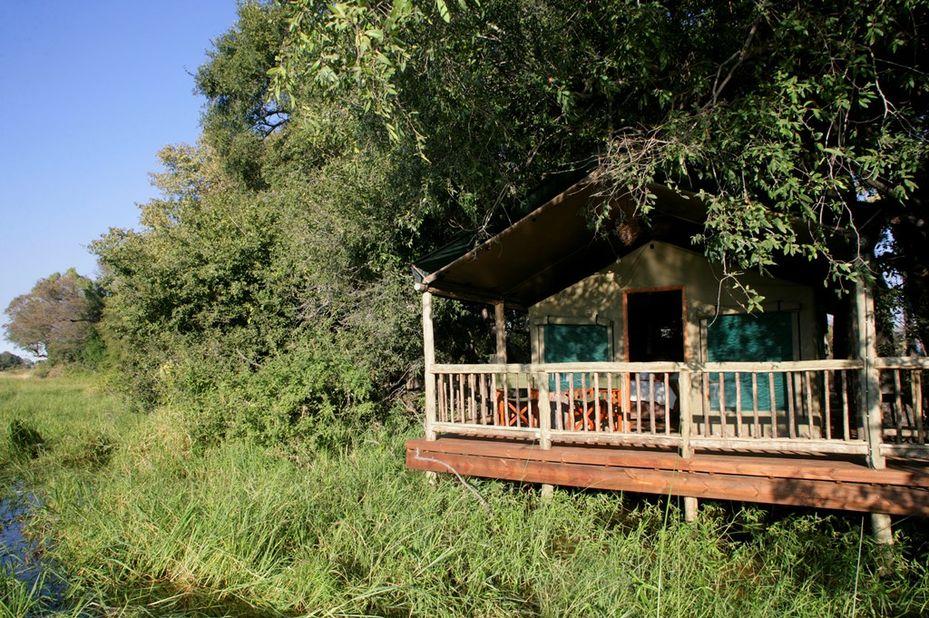 Moremi Crossing - veranda - Okavango Delta - Botswana - foto: Moremi Crossing