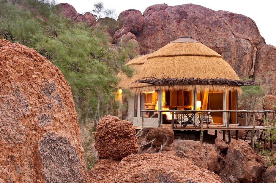 Mowani Mountain Camp - bungalow - Twyfelfontein -Namibie