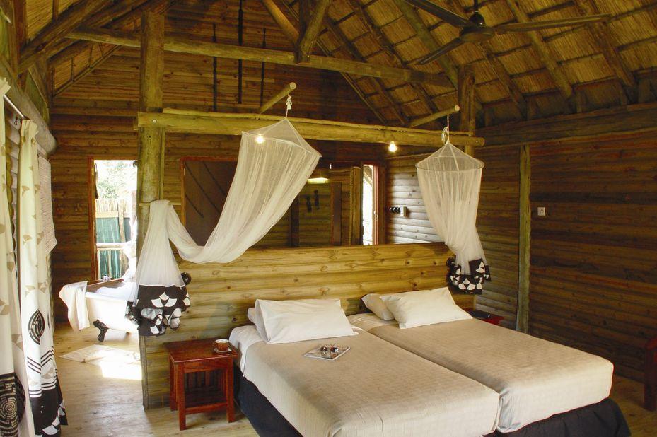 Nata Lodge - chalet interieur - Botswana - foto: Nata Lodge