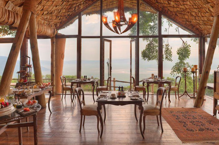Ngorongoro Crater Lodge - restaurant - Ngorongoro Crater - Tanzania - foto: Ngorongoro Crater Lodge