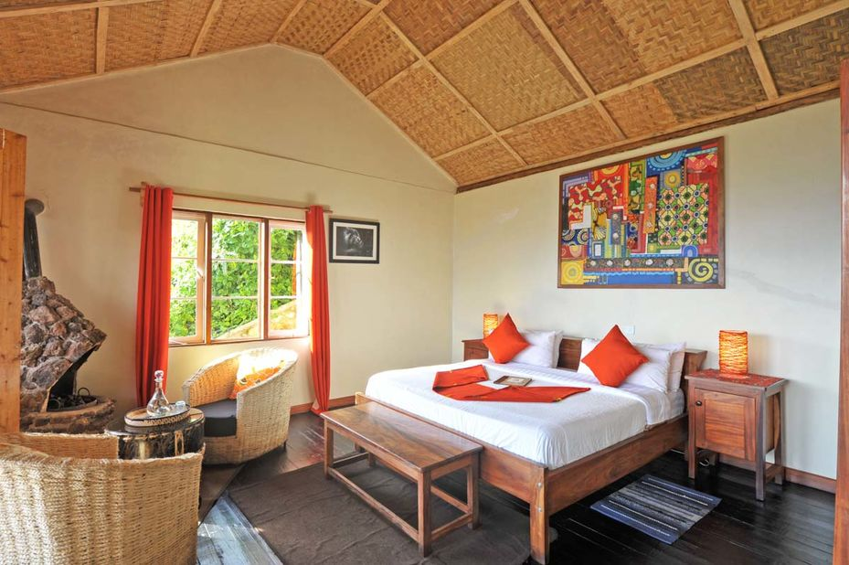Nkuringo Gorilla Lodge - slaapkamer - Bwindi - Oeganda - foto: Nkuringo Bwindi Gorilla Lodge