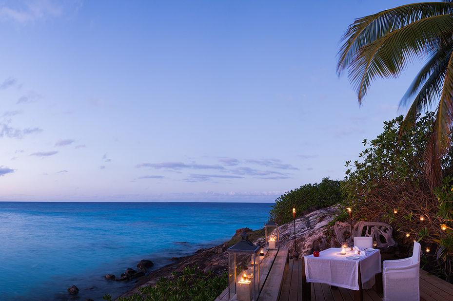 North Island - romantisch dineren - Seychellen - foto: North Island Resort