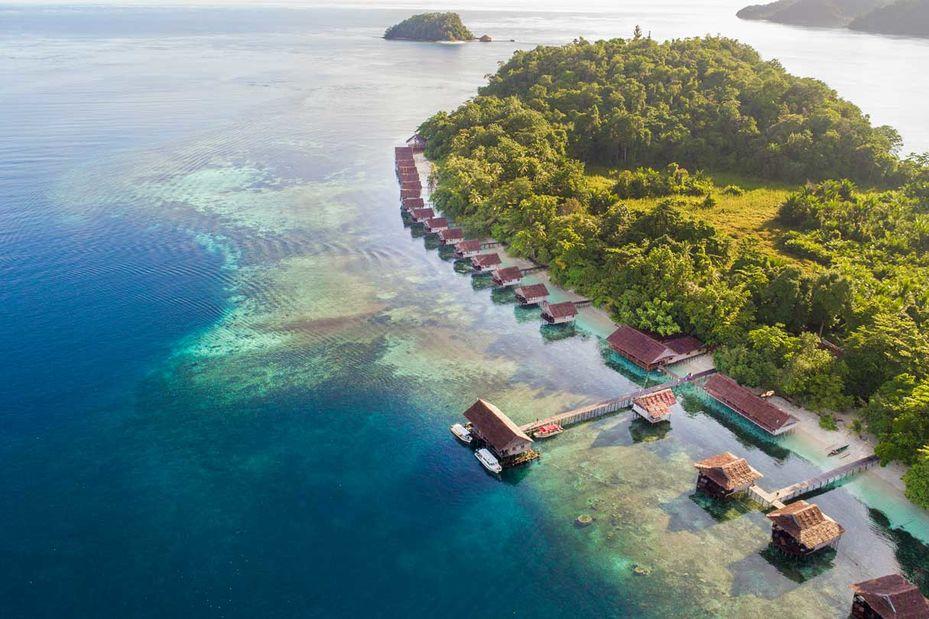 Papua Paradise Eco Resort - overzicht - Raja Ampat - Indonesie - foto: Papua Paradise Eco Resort