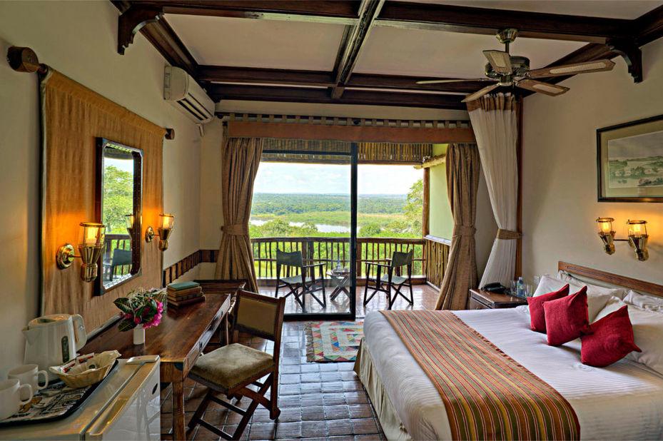 Paraa Safari Lodge - slaapkamer - Murchison Falls - Oeganda - foto: Paraa Safari Lodge
