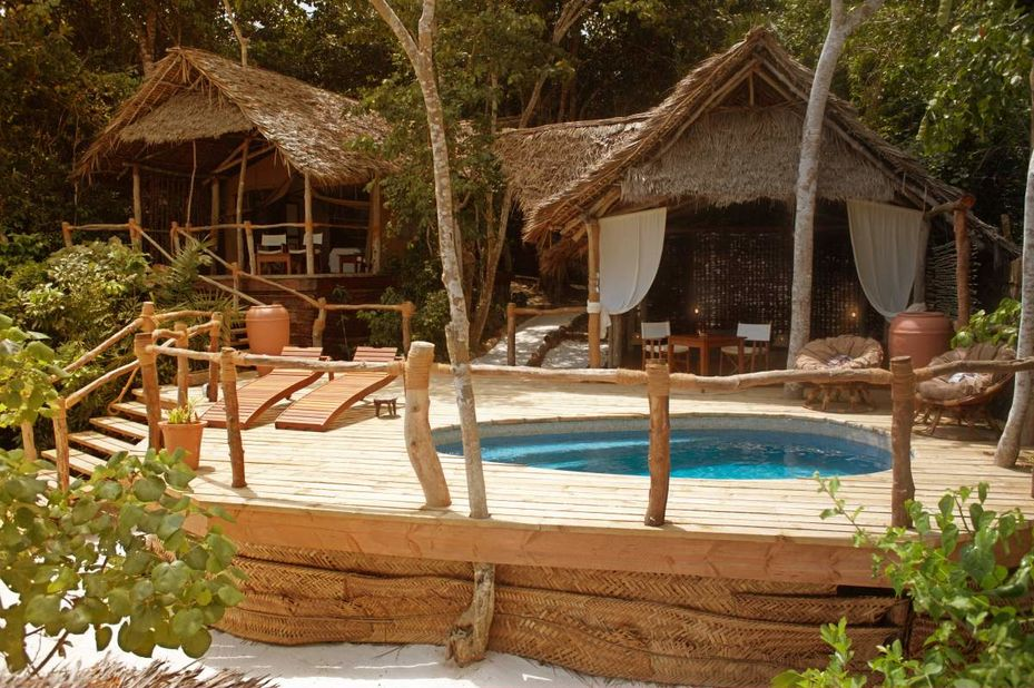 Pemba Island - bungalow exterieur - Fundu Lagoon - Tanzania - foto: Fundu Lagoon