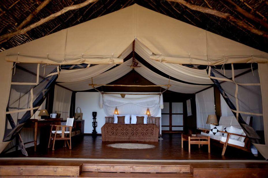 Pemba Island - kamer interieur - Fundu Lagoon - Tanzania - foto: Fundu Lagoon