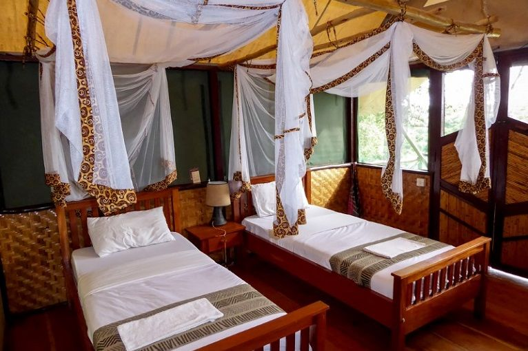 Queen Elizabeth Bush Lodge - banda interieur - Oeganda - foto: Queen Elizabeth Bush Lodge