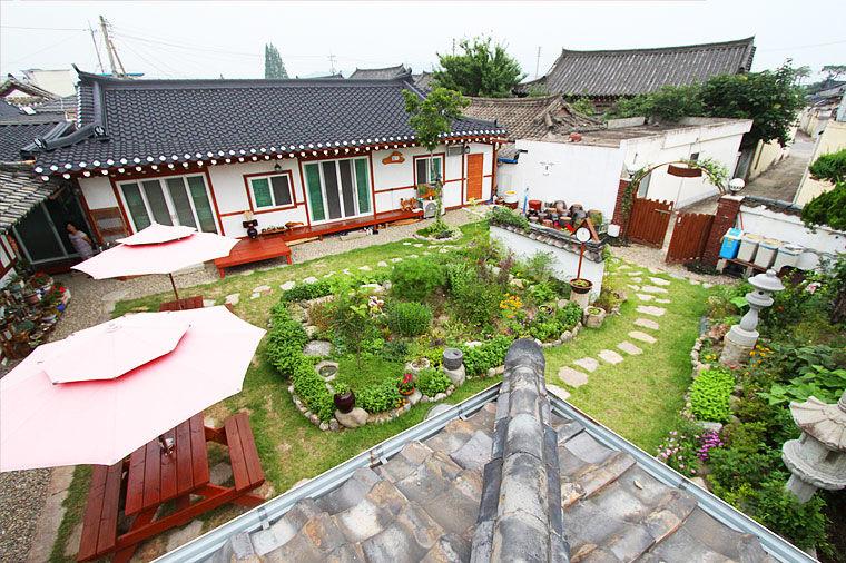 Raon Guesthouse, Gyeongju, binnenplaats, Zuid-Korea - foto: Lokaal agent
