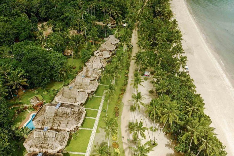 Bovenaanzicht - Daluyon Beach and Mountain Resort - Palawan - Sabang - Filipijnen - foto: Daluyon Beach and Mountain Resort