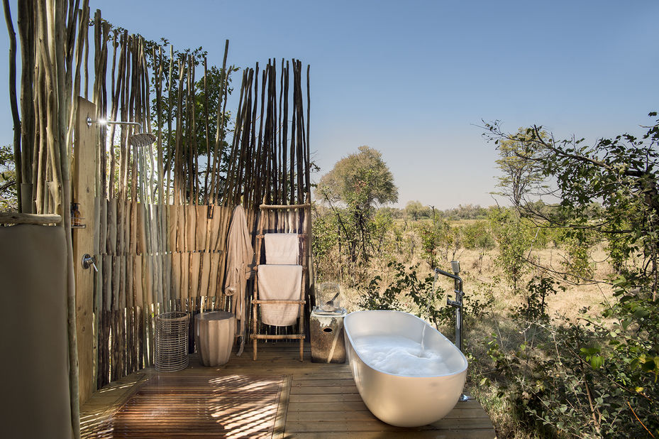 Sable Alley Lodge - badkamer - Khwai - Okavango Delta - Botswana - foto: Sable Alley Lodge