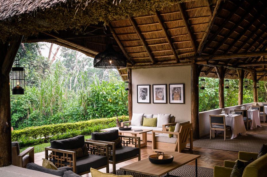 Sanctuary Gorilla Forest Camp - lounge - Bwindi - Oeganda - foto: Sanctuary Gorilla Forest Camp