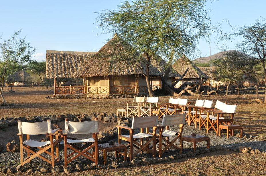 Severin Safari Camp - kampvuur - Tsavo - Kenia - foto: Severin Safari Camp