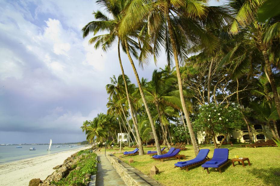 Severin Sea Lodge -tuin - beachfront - Mombasa - Kenia - foto: Severin Sea Lodge