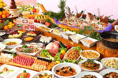 Suginoi Hotel - ontbijt buffet - Beppu - Japan - foto: Suginoi Hotel