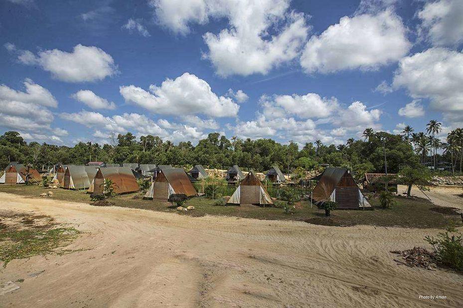 Tanjung Inn - tenten - Cherating - Maleisie - foto: Tanjung Inn