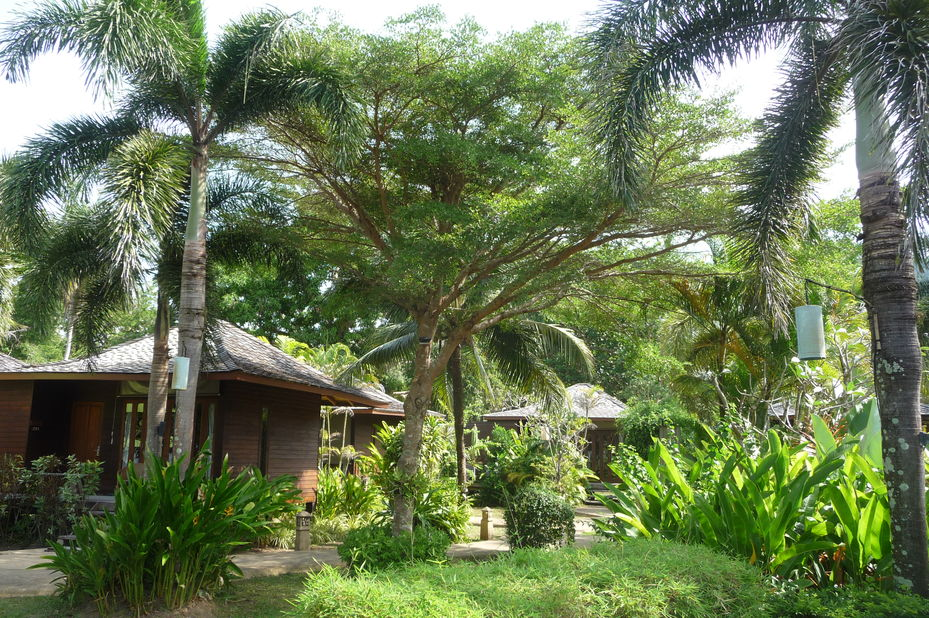huisjes in tuin Gajapuri Resort & Spa - Koh Chang - Thailand - foto: Floor Ebbers