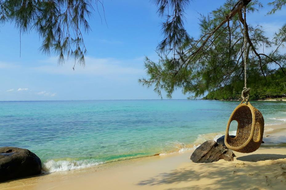 blauwe zee Koh Kood - Cham's House - Thailand - foto: Floor Ebbers