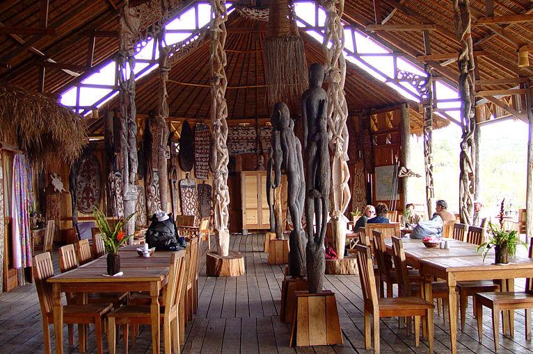 The Baliem Valley Resort - lounge - Wamena - Baliem Vallei - Indonesie - foto: The Baliem Valley Resort