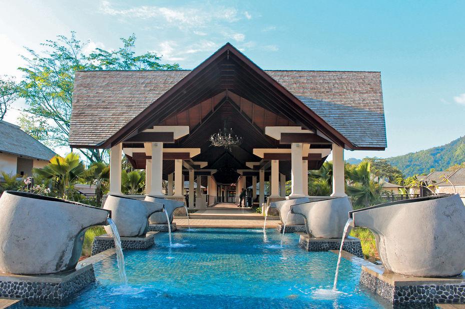 The H Resort - entree - Mahe - Seychellen - foto: The H Resort