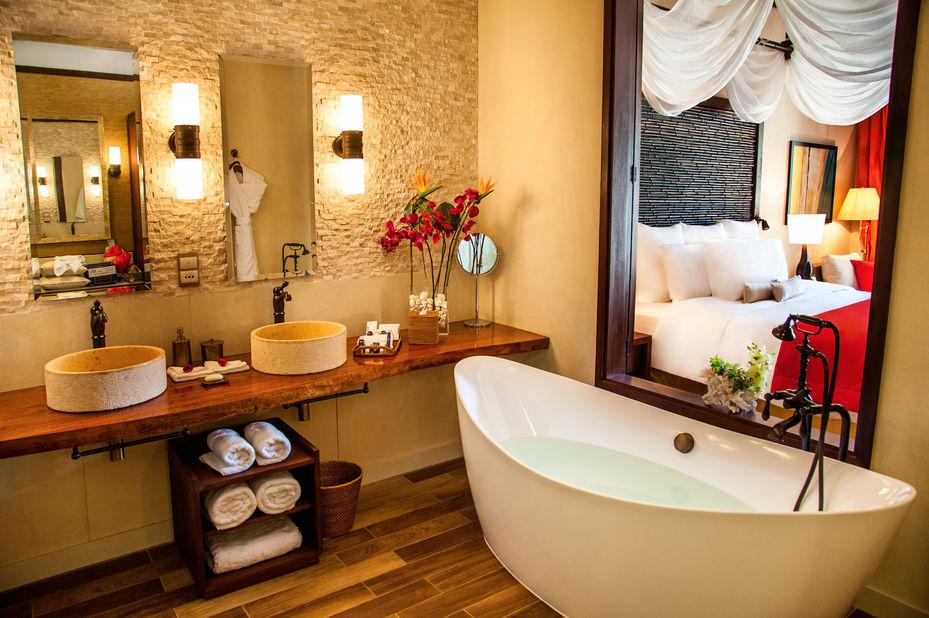 The H Resort - junior suite badkamer - Mahe - Seychellen - foto: The H Resort