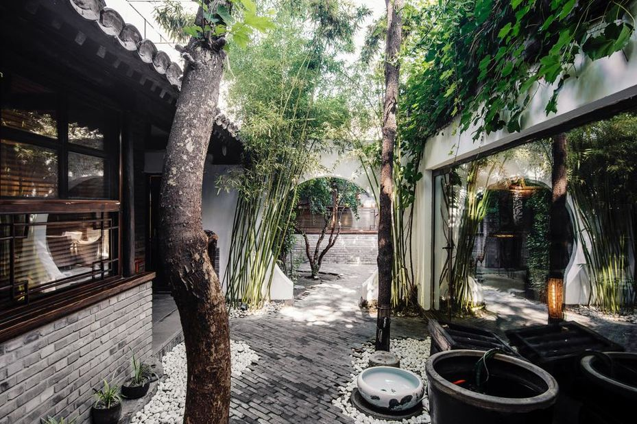 The Orchid Gulou - binnentuin - Beijing - China - foto: The Orchid Gulou