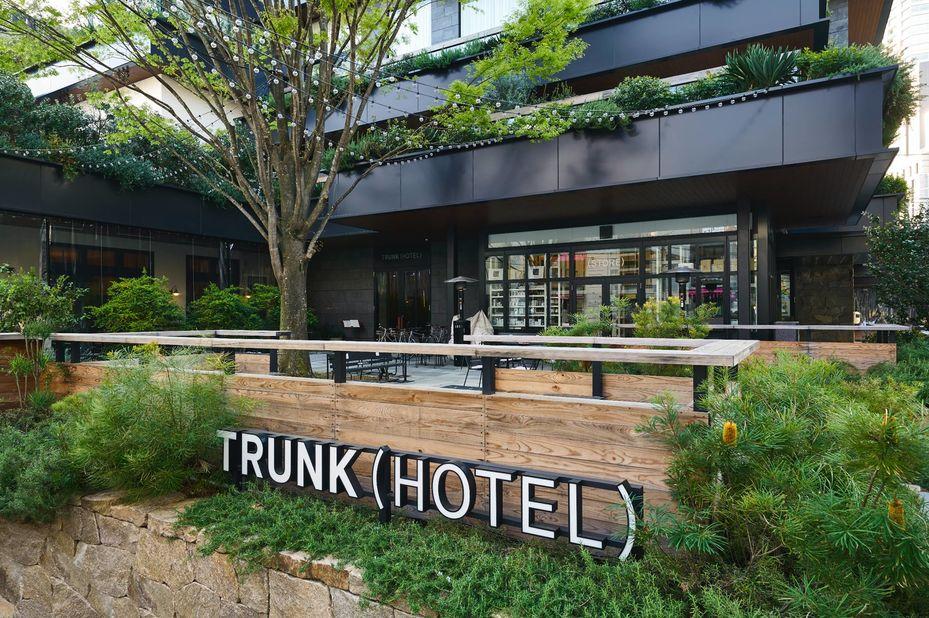 Trunk Hotel - buitenkant groen - Tokyo - Japan - foto: Trunk Hotel