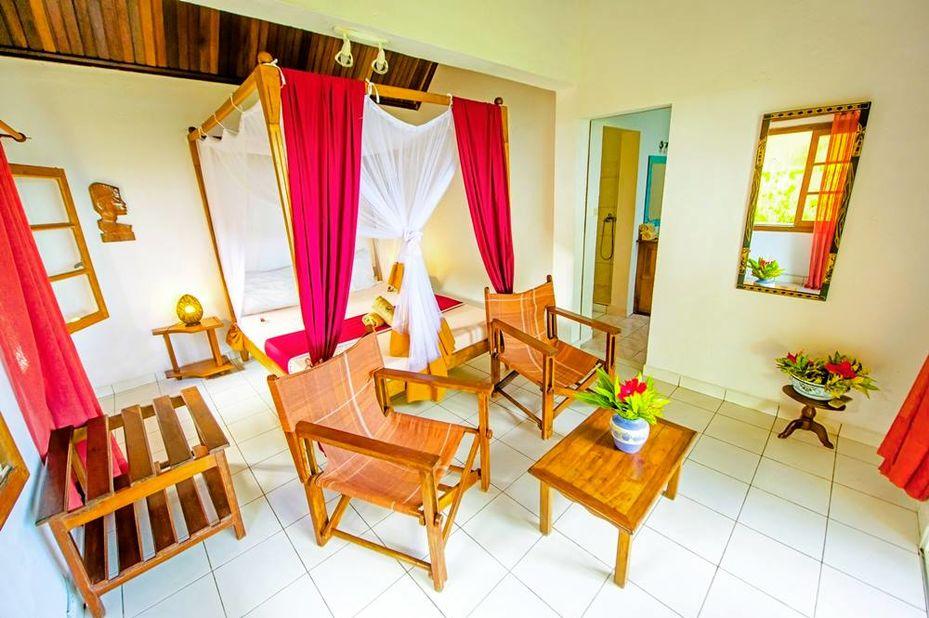 Vanivola Hotel - bungalow interieur - Ile St Marie - Madagaskar - foto: Vanivola Hotel