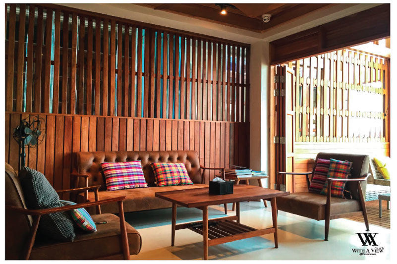With A View Hotel - lounge - Chiang Khan - Thailand - foto: With A View Hotel
