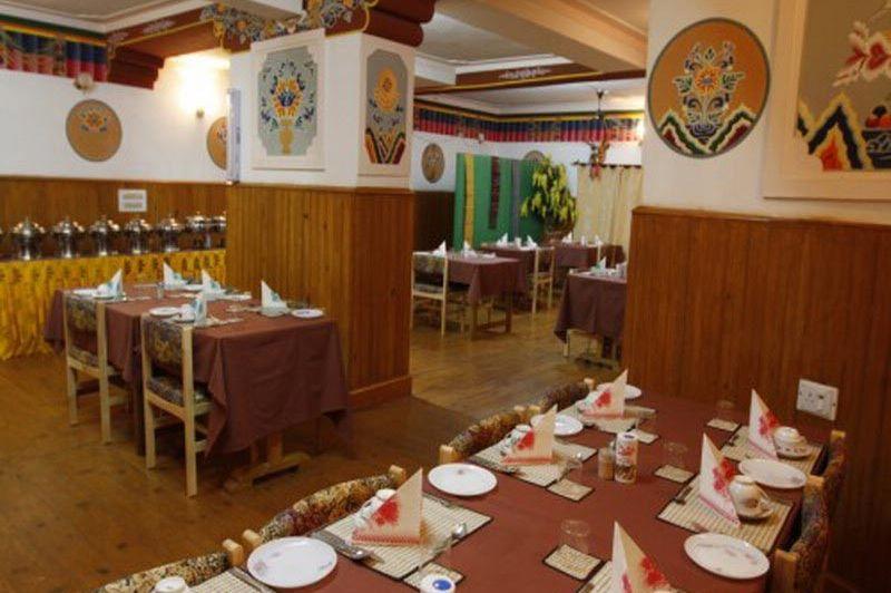 restaurant hotel Punakha - Hotel Meri Puensum - Bhutan