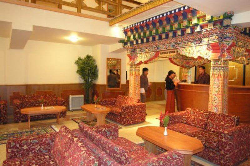 Lobby Phuntsho Pelri hotel - Phuntsho Pelri - Bhutan - foto: lokale agent