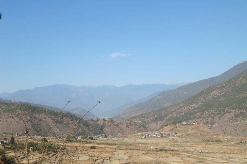 uitzicht vallei Hotel Vara - Hotel Vara - Bhutan