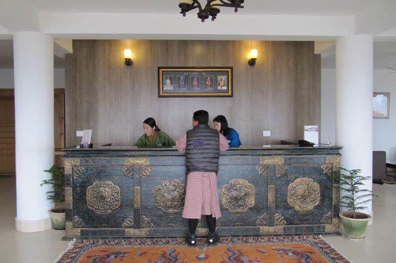 receptie van Zhingkham - Zhingkham - Bhutan - foto: Mieke Arendsen