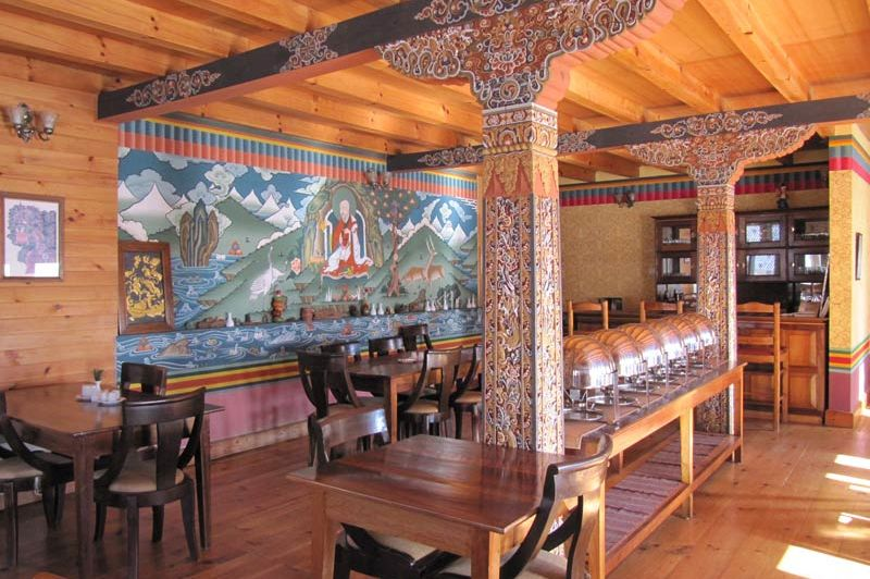 restaurant van Chumey Nature Resort - Chumey Nature Resort - Bhutan - foto: Mieke Arendsen