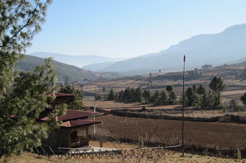 uitzicht van Chumey Nature Resort - Chumey Nature Resort - Bhutan