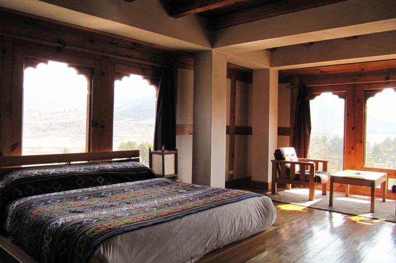 kamer van Hotel Dewachen - Hotel Dewachen - Bhutan - foto: Mieke Arendsen