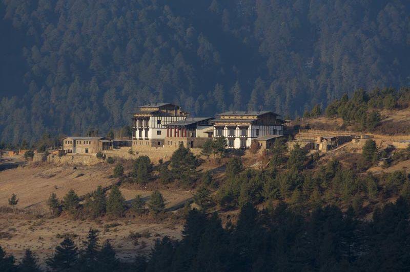 deur van Gangtey Lodge - Gangtey Lodge - Bhutan - foto: Gangtey Lodge