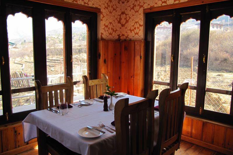 restaurant van het Bongde Goma Resort - Bongde Goma Resort - Bhutan
